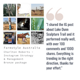 review testimonial facebook farmstyle australia social media management