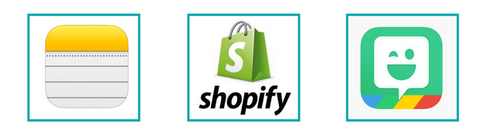 shopify and note taking tool and app