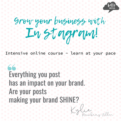 Grow your business with Instagram ~ online course