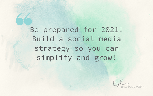 Masterclass ~ Build your 2021 social strategy & grow!