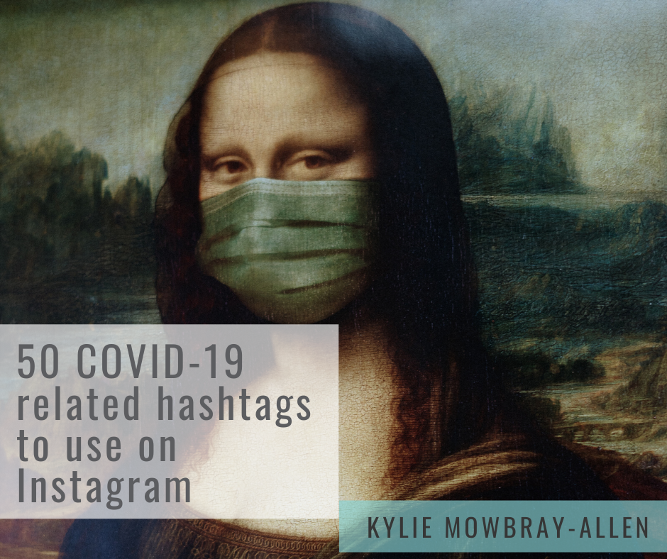 Digital File Download ~ 50 Instagram hashtags to use during COVID-19 Coronavirus pandemic 2020