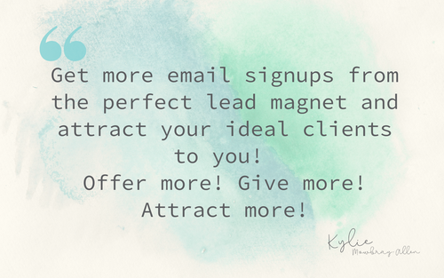 1-day Masterclass ~ LEAD GENERATION MAGNET & CONTENT