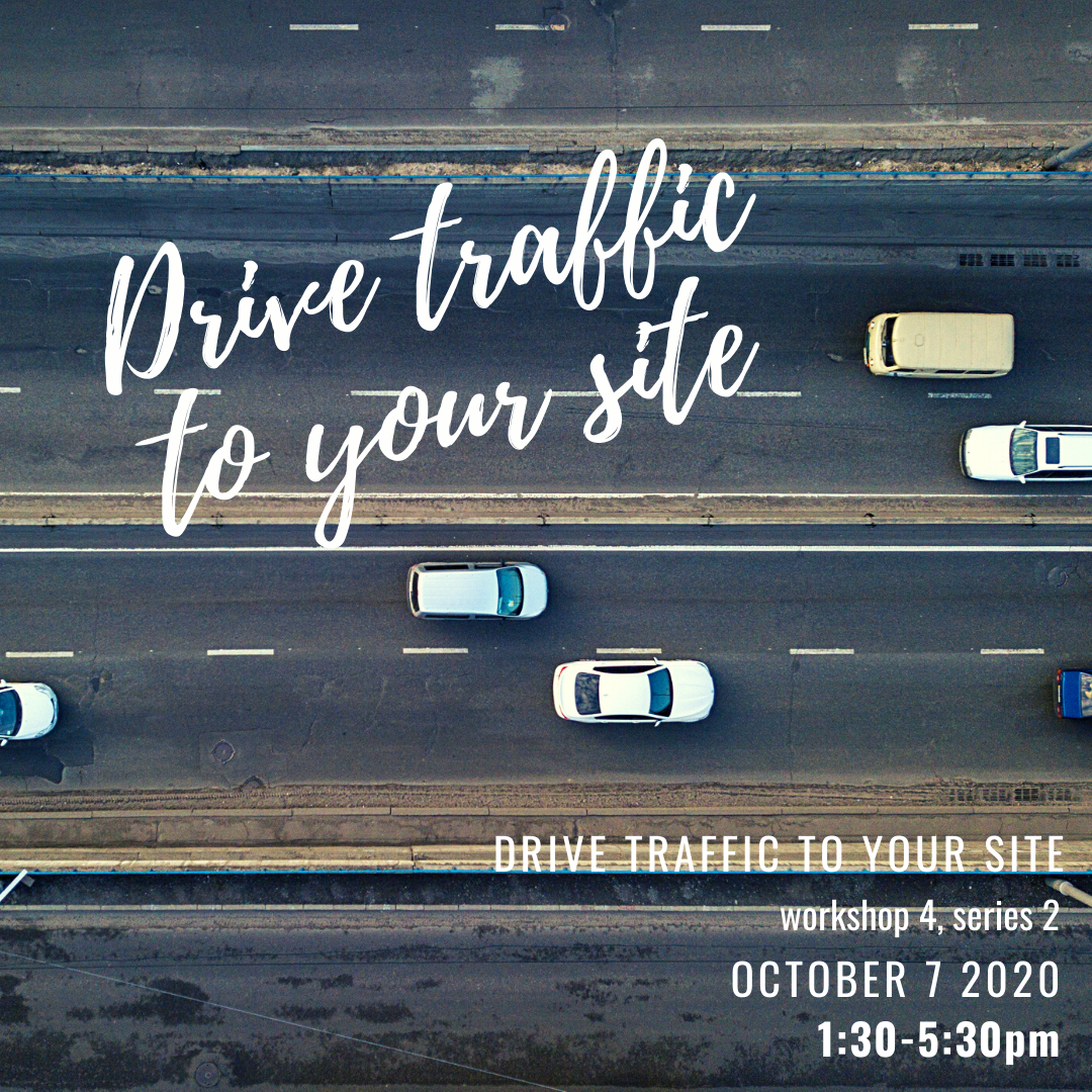Workshop Series 2 ~ Drive traffic to your site  ~ week 4