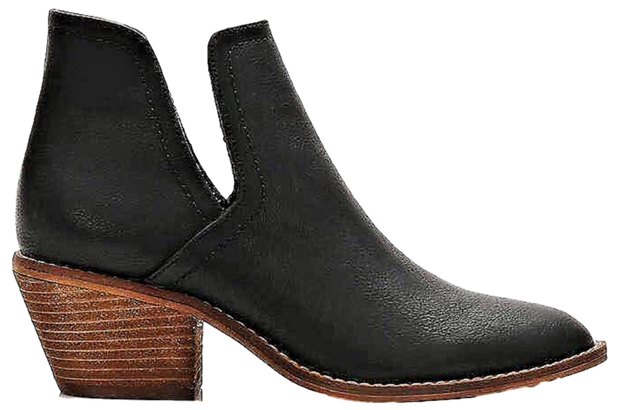 Sunny-01 Women Western Short Ankle Pointed Toe Booties Boots Black