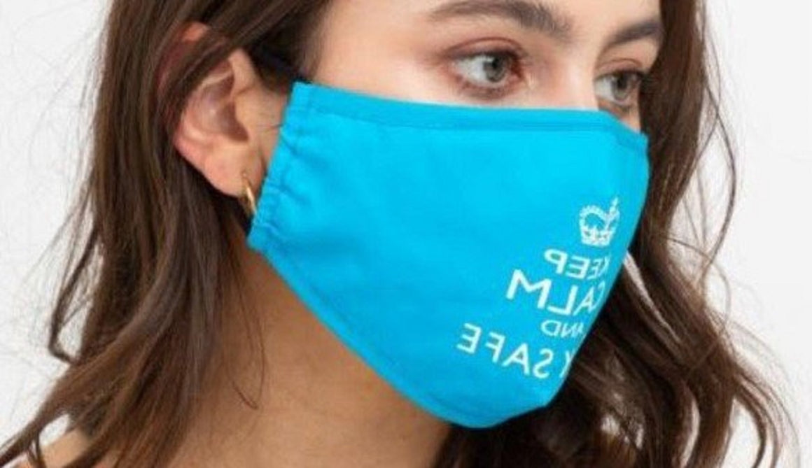 "Face Mouth Nose Mask Cover Protection Reusable Cotton Blend Five Layer Filter Adjustable One Size Unisex ""Keep Calm"" Print"