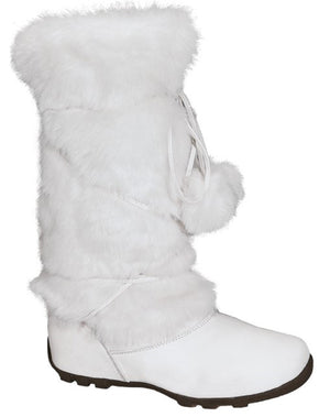 Talia-Hi Women Mukluk Faux Fur Boot Mid Calf Winter Snow White