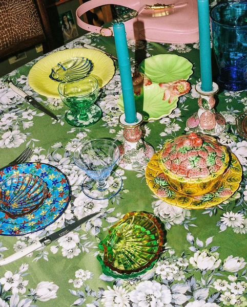 chloe hill home dining table eclectic colour