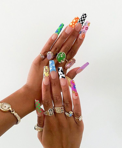 flex mami nails accessories rings colour jewellery