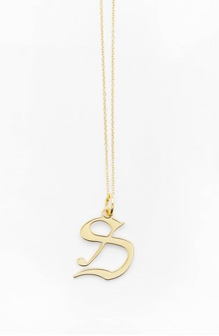 letter s necklace reliquia