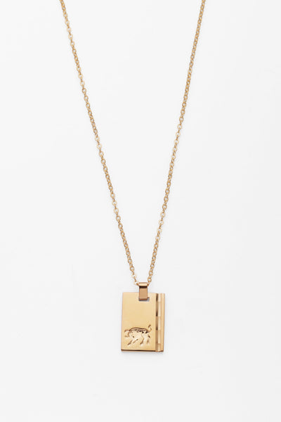 taurus gold star sign necklace reliquia jewellery