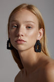 Pandemonium Earrings in Black