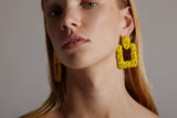 Pandemonium Earrings in Yellow