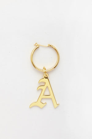 Gold Letter A Earring