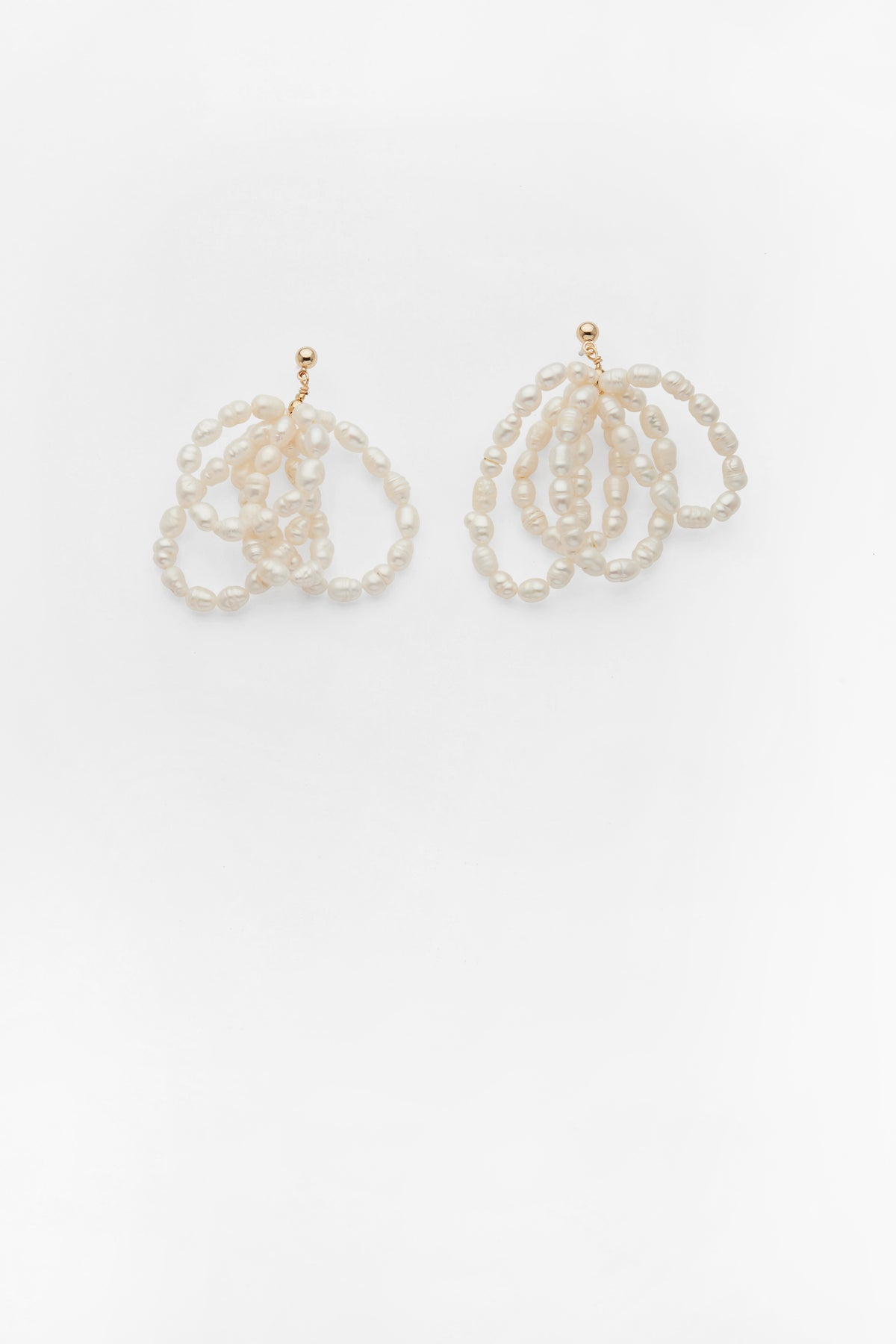 Amor Pearl Cluster Earrings