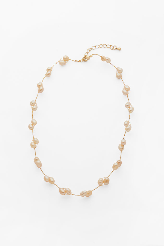 Apricot Pearl Necklace