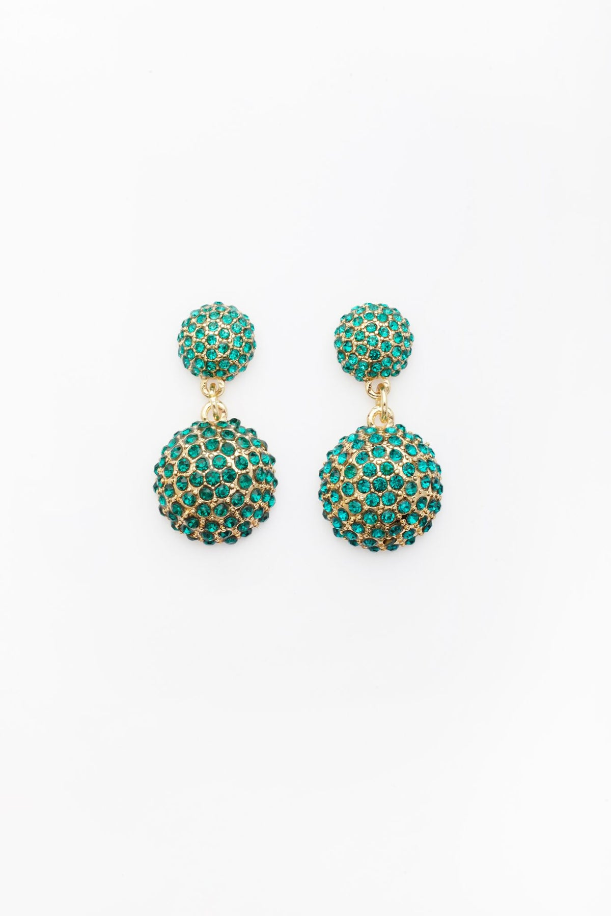 Obfuscation Earrings in Green