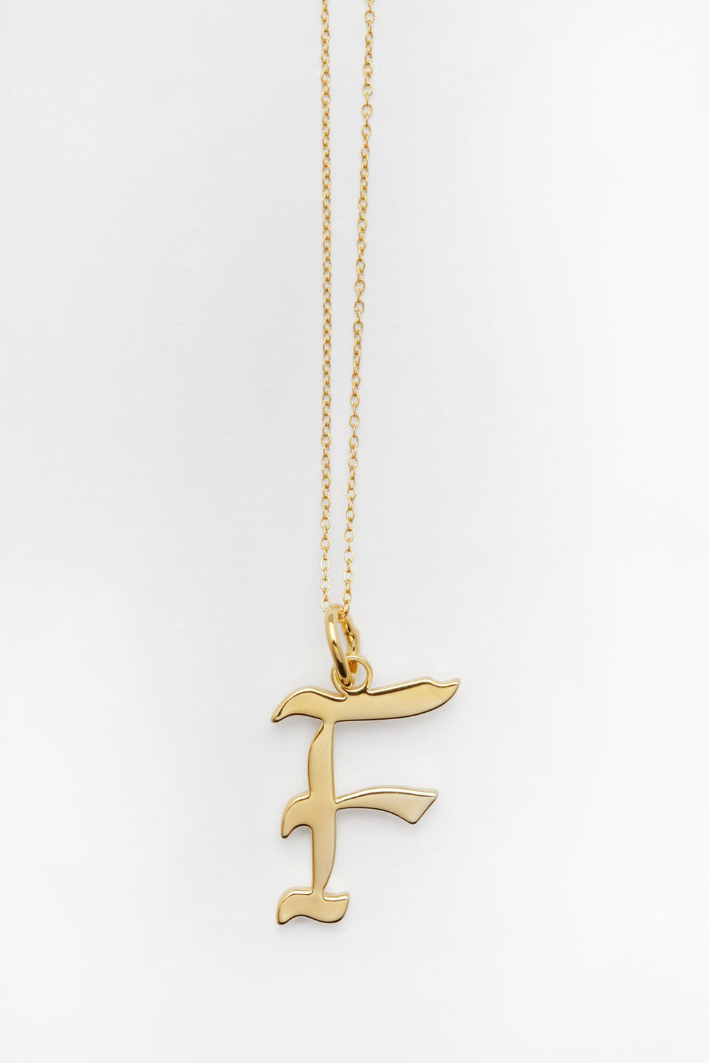 Gold Letter F Necklace