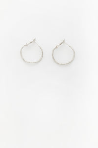 Fine Swirl Earrings Silver