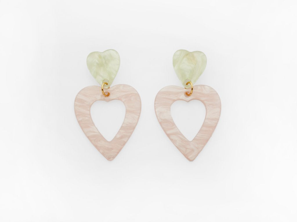 Georgette Earrings Pink