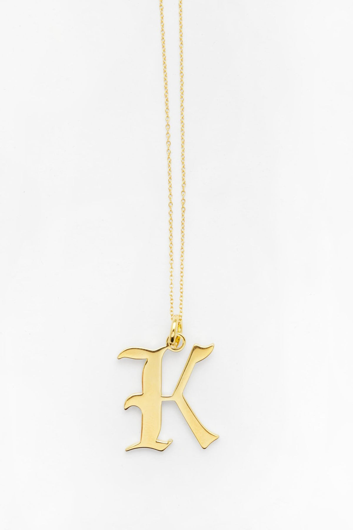Gold Letter K Necklace