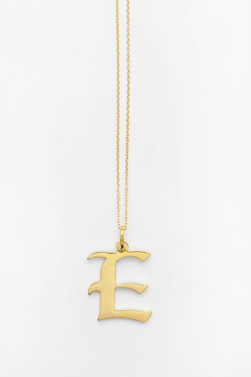 Gold Letter E Necklace