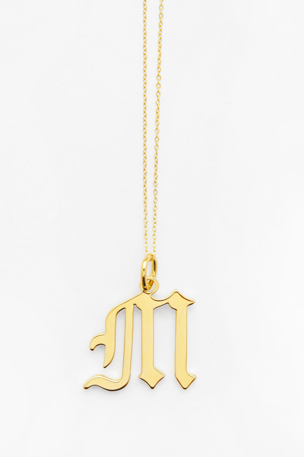 Gold Letter M Necklace