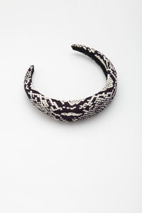 Maxine Headband Black and White
