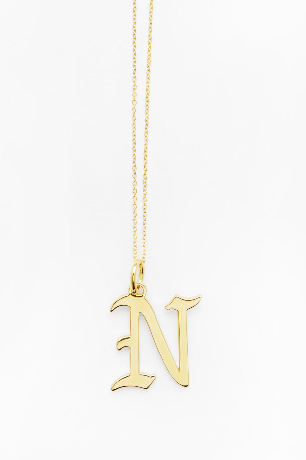 Gold Letter N Necklace