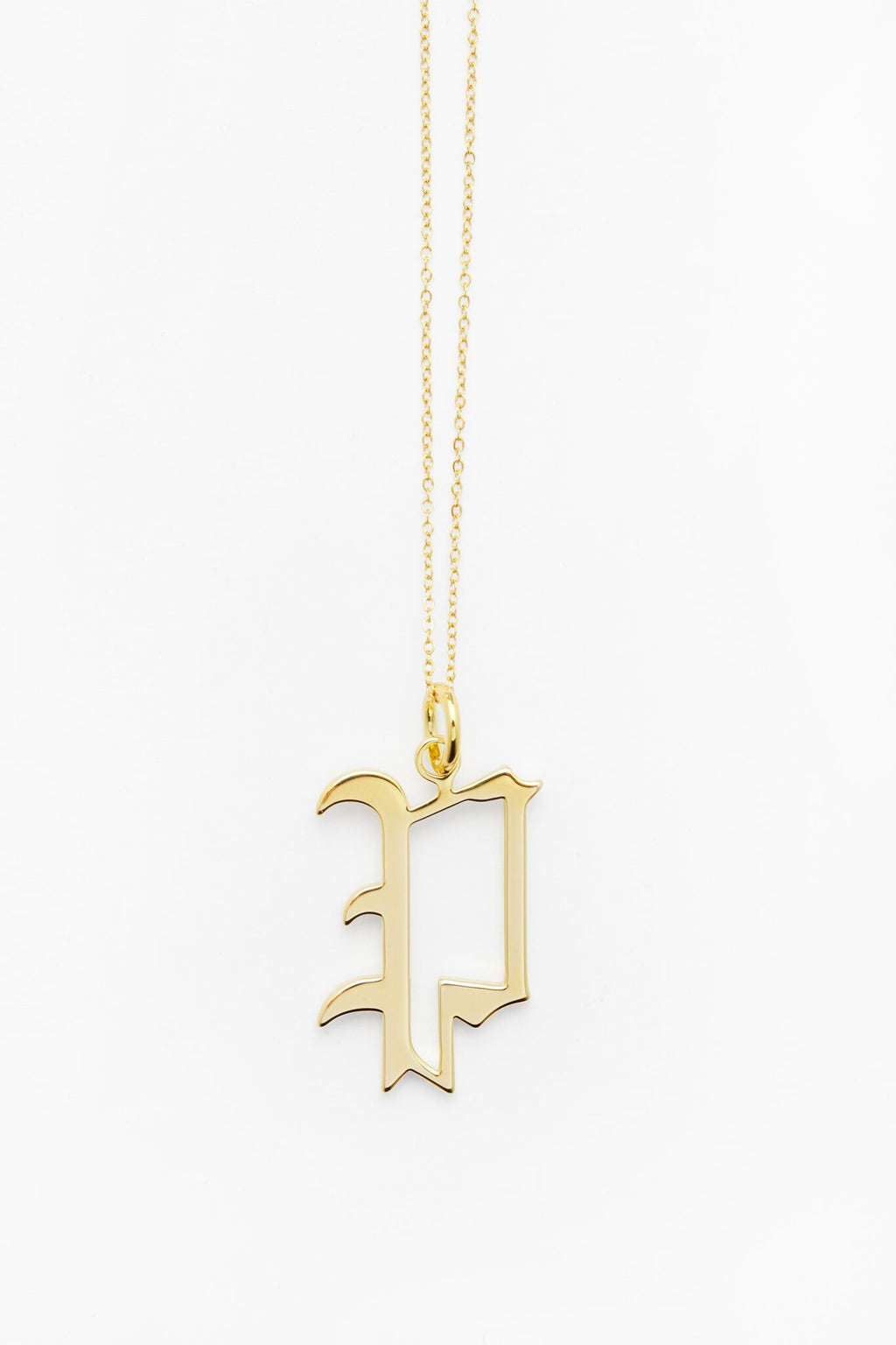 Gold Letter P Necklace