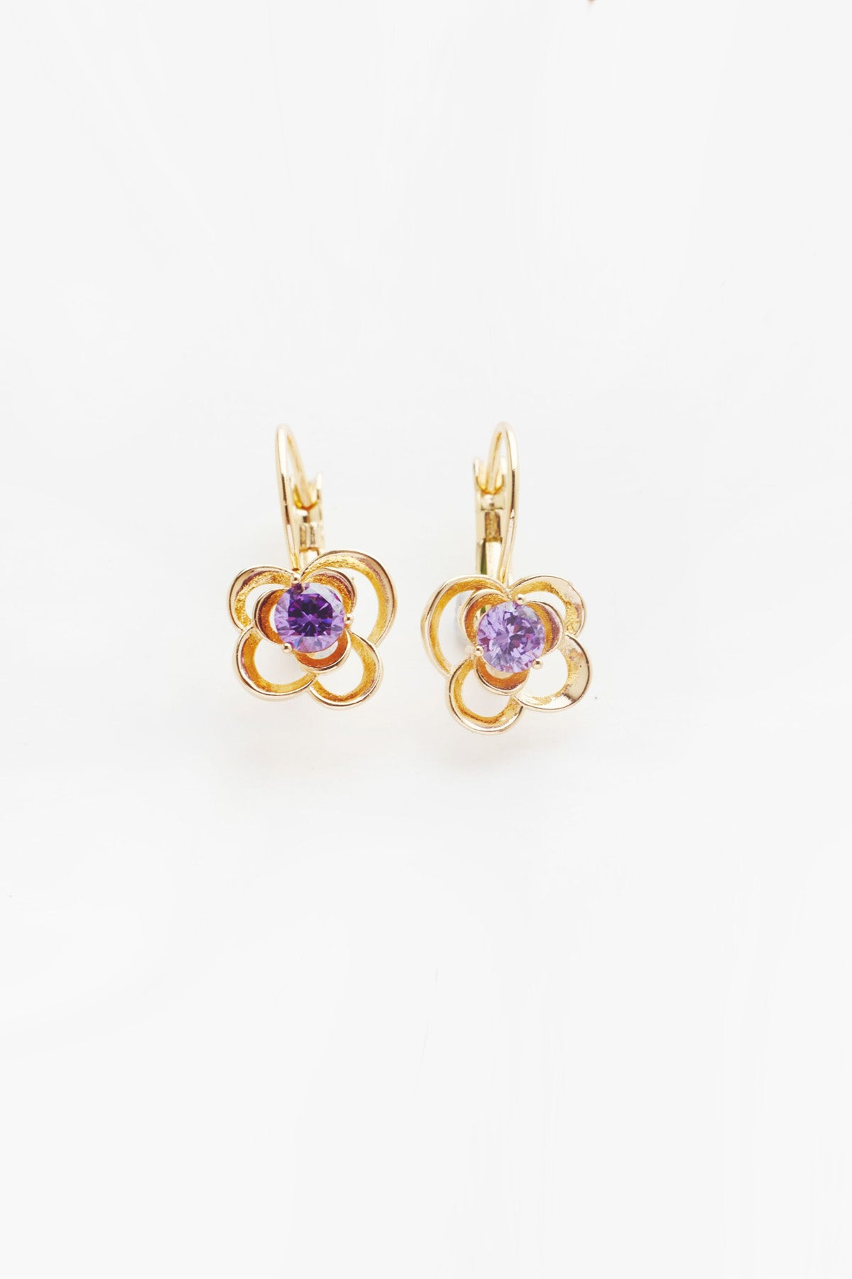 Purple Daisy Earrings