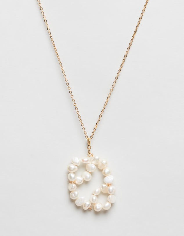 Pearl Zodiac Necklace Cancer