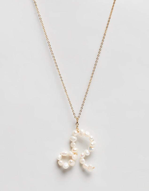 Pearl Zodiac Necklace Leo