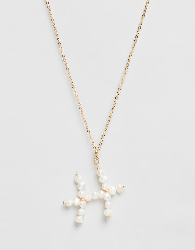 Pearl Zodiac Necklace Pisces