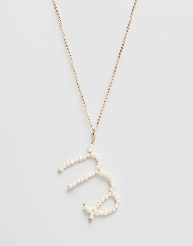 Pearl Zodiac Necklace Virgo