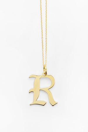 Gold Letter R Necklace