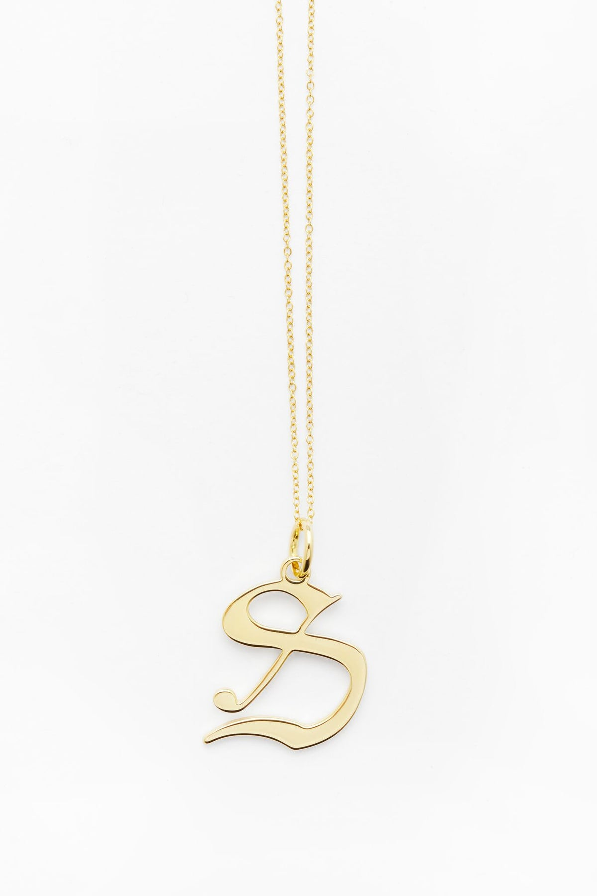 Gold Letter S Necklace