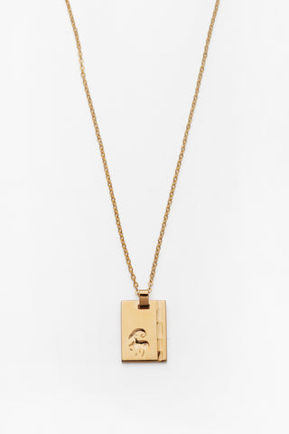 Gold Star Sign Necklace Aries