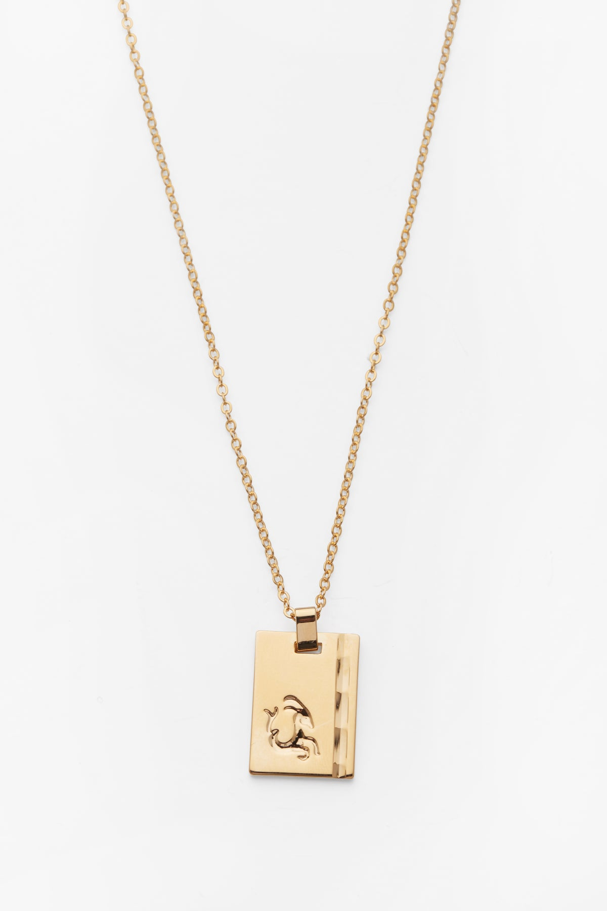 Gold Star Sign Necklace Capricorn