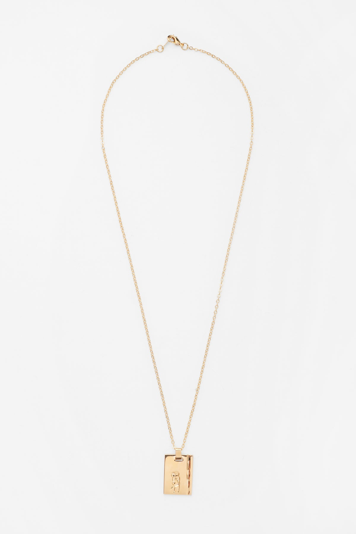 Gold Star Sign Necklace Gemini