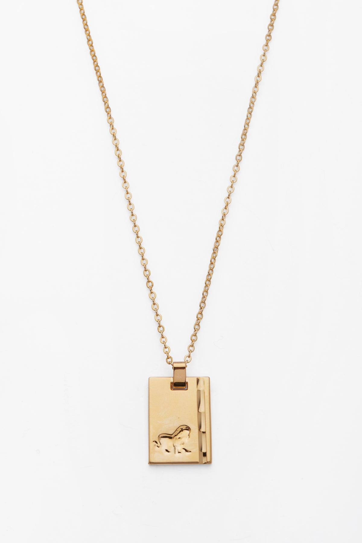 Gold Star Sign Necklace Leo