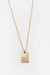 Gold Star Sign Necklace Libra