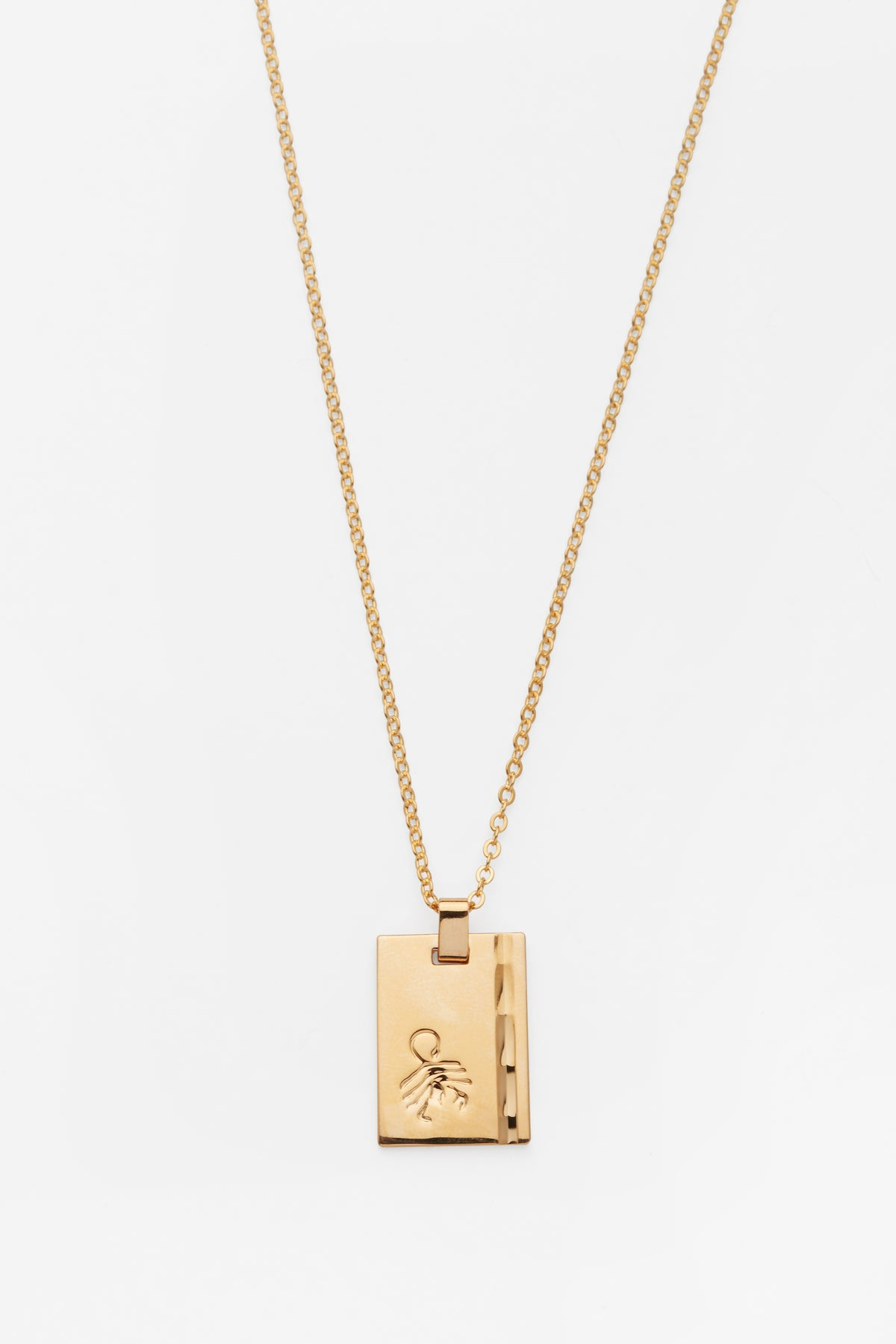 Gold Star Sign Necklace Scorpio