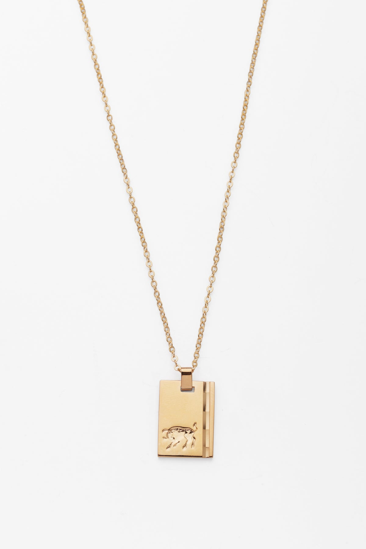 Gold Star Sign Necklace Taurus