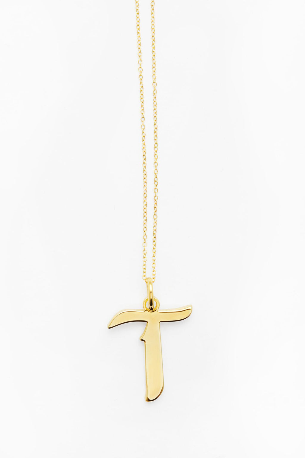 Gold Letter T Necklace