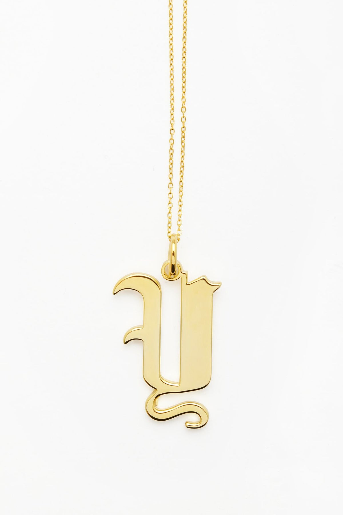 Gold Letter Y Necklace