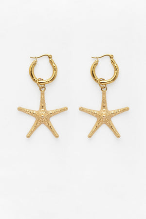 Starfish Charm Earrings