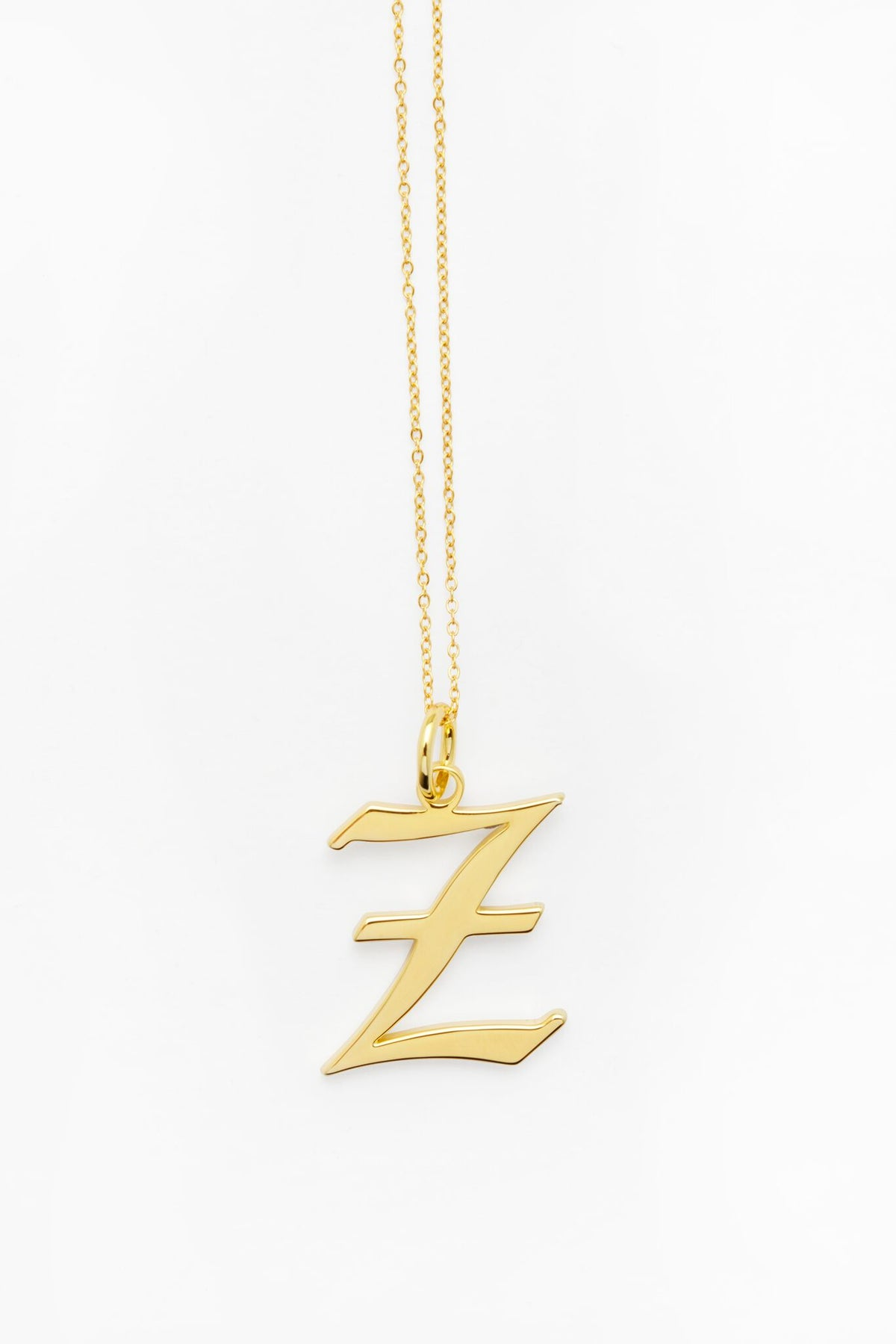 Gold Letter Z Necklace