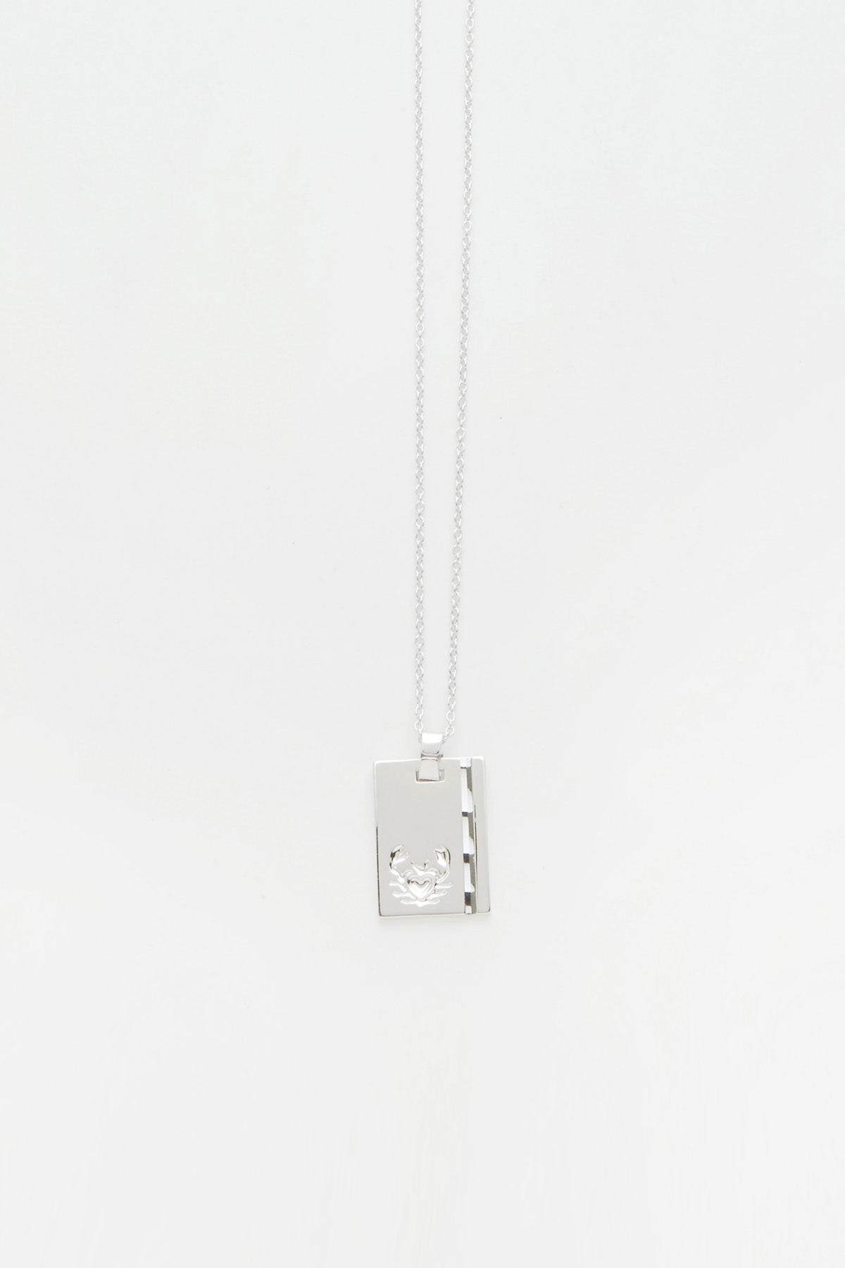 Silver Star Sign Necklace Cancer