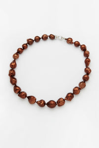Keshi Strand Pearl Necklace - Chocolate