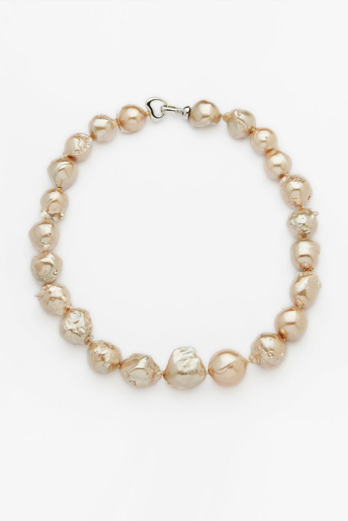 Keshi Strand Pearl Necklace - Gold